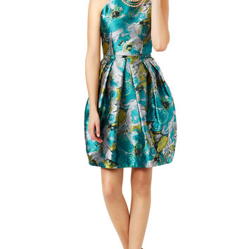 Carmen Marc Valvo Impressionist Dress