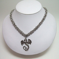 Mens, jewelry, Dragon, necklace, Game of Thrones, inspired, mens necklace, Dungeons and Dragons