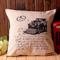 Cotton Linen Creative Cars Vintage Cushion [6283599686]