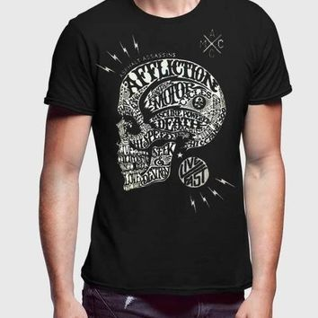 Affliction Skull Black Half Sleeve Men Premium