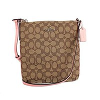 Coach Women's Outline Signature Coated Canvas North South Crossbody Bags, Style F58421