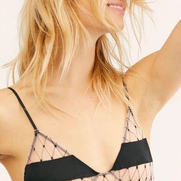 Burlesque Fishnet Triangle Bra