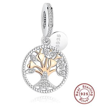 Family Tree of Life Silver Dangle Charm