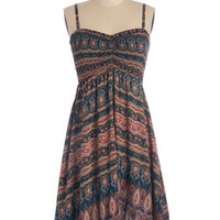 ModCloth Boho Spaghetti Straps A-line Ideal Discovery Dress