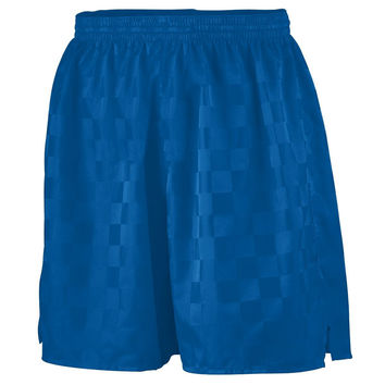 Augusta 430 Long Checkerboard Nylon Short - Royal