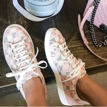 LV Sneaker Louis Vuitton Sports Shoes Women Leisure White Soles Print Star Shoes