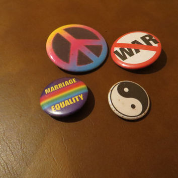 1990's Grunge Backpack Pins / Pinback Button Lot