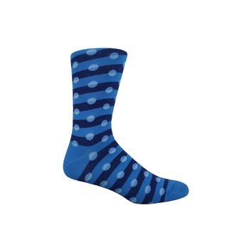 Stripes and Dots Crew Socks in Blue