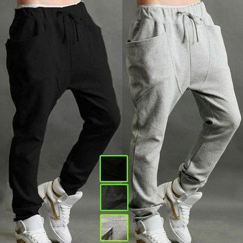 Mens Casual Harem Baggy Tomboys Hip Hop Dance Sweat Pants Slacks Sport Trousers