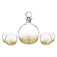 FITZ&FLOYD Luster Decanter Set (5 PC) - Gold