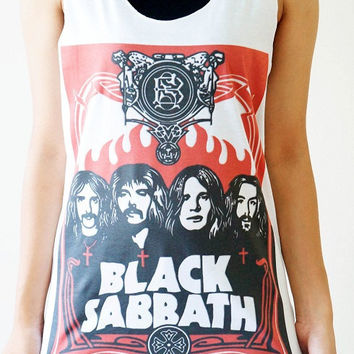 S,M,L -- BLACK SABBATH Shirts Heavy Metal Shirts Rock Shirts Women Tee Shirts Vest Singlet Tank Top Women Tunics Top Sleeveless White Shirts