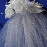 Veil Flower Girl veil with headpiece First by Hoalanebridal