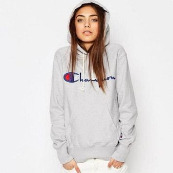 Champion Fashion Embroidery Logo Hooded Sport Top Sweater Sweatshirt Hoodie H 8-9