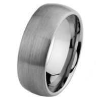 8mm Domed Cobalt Free Tungsten Carbide COMFORT-FIT Wedding Band Ring for Men and Women (Size 5 to 15) - Size 11