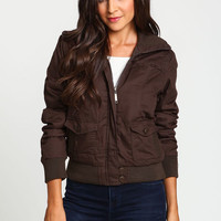 WIDE COLLAR BOMBER JACKET
