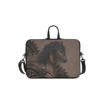 Personalized Laptop Shoulder Bag Steampunk Horse Handbags 11 Inch