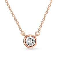 Bling Jewelry Rose Tint Necklace