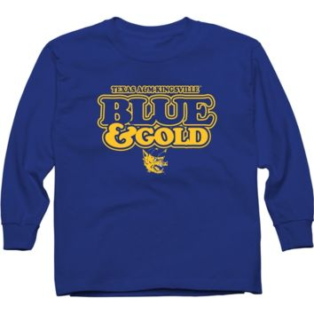 Texas A&M Kingsville Javelinas Youth Our Colors Long Sleeve T-Shirt - Royal Blue - http://www.shareasale.com/m-pr.cfm?merchantID=7124&userID=1042934&productID=546715646 / Texas A&M Kingsville Javelinas