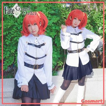 [Stock]+Wig Game Anime Fate Grand Order FGO figure Gudako Chaldea Magical Suit Cosplay Costume for women New free shipping