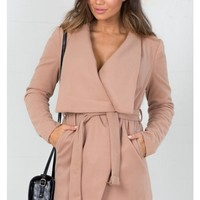 In An Instant trench coat in camel