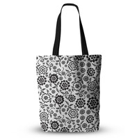 """Nicole Ketchum """"Cherry Floral White"""" Everything Tote Bag"""