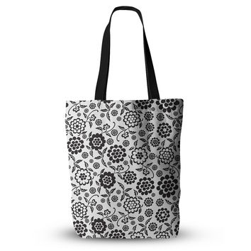 "Nicole Ketchum ""Cherry Floral White"" Everything Tote Bag"