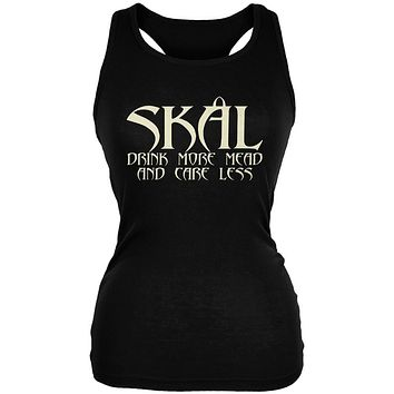 Viking Skal Drink More Mead Worry Less Juniors Soft Tank Top