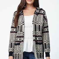 LA Hearts High Split Side Coatigan - Womens Sweater - Multi