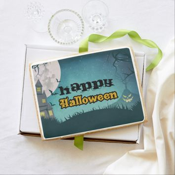 Spooky Haunted House Costume Night Sky Halloween Shortbread Cookie