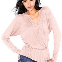 Surplice Peplum Top - Angel Tees - Victoria's Secret