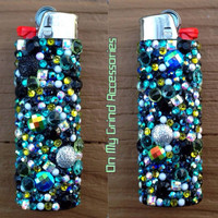 LIGHTER -- XL Blue Green GlamBomb