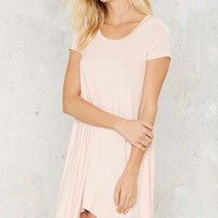 Nasty Gal Take the Shirt Cut Dress - Blush