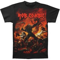 Rob Zombie Men's  Battle Jumbo T-shirt White