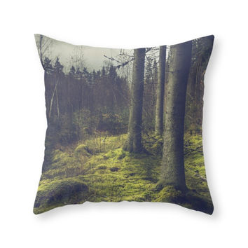 Society6 Forest Throw Pillow