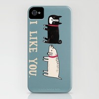 I Like You. iPhone Case by Gemma Correll | Society6
