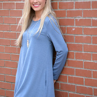 Blue Beauty Tunic Dress