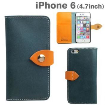 Strapya World : Brushup Standard Tochigi Leather Diary Type Case for iPhone 6 (Navy)