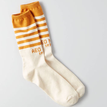 AEO NYC 1977 Crew Socks , Yellow
