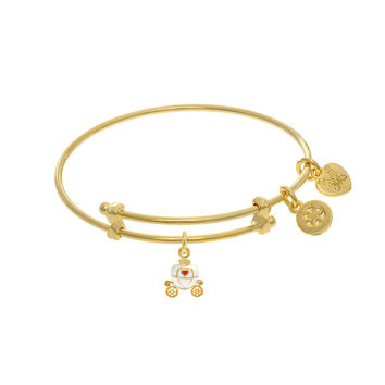Princess Carriage Charm Expandable Tween Bangle Bracelet
