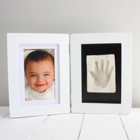 Baby Casting Hand Or Foot Imprint Kit And Photo Frame