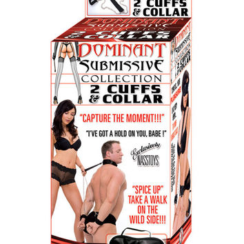 Dominant Submissive Collection - 2 Cuffs And A Collar
