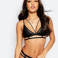 ASOS | ASOS Emily Lace Strappy Triangle Bra at ASOS