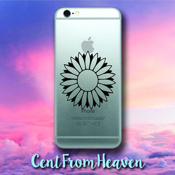 2 EXTRAS FREE - Flower iPhone Android Samsung Galaxy Phone Apple Decal Sticker Nature Beautiful Daisy Rose Floral