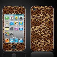 Leopard Print on Vinyl  iPod Touch 4 4th Gen Vinyl Wrap by ItsASkin