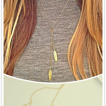 Women's Dainty Gold Leaf Necklace