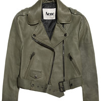 Acne | Mape cropped lizard-embossed leather jacket | NET-A-PORTER.COM