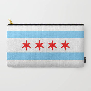 Chicago Flag Coin Purse - Gifts for Women - Accessories - Custom Coin Purse - Zipper Pouch - Carry All Pouch