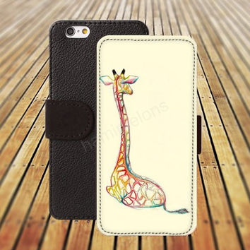 iphone 5 5s case dream giraffe watercolor colorful iphone 4/4s iPhone 6 6 Plus iphone 5C Wallet Case,iPhone 5 Case,Cover,Cases colorful pattern L303