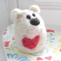 Polar BEAR Love Valentine's Day Love 100 Natural Wool by SweetPB