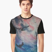 'Free Birds' Graphic T-Shirt by DimKad